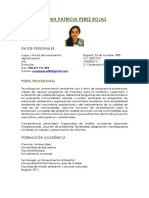 Hoja de Vida Sonia Patricia Perez 2016
