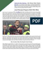 Kaka Ditawari Jabatan Pekerjaan Pengurus Klub Oleh Milan