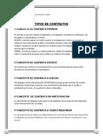 Concepto de Contrato Expreso