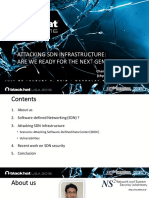 Attacking SDN Infrastructure