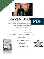 Raven Books Summer 2017