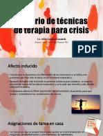 Glosario de Técnicas de Terapia Para Crisis