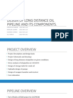 Design of Long Distance Oil Pipeline