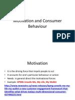 Motivation and Consumer Behaviour