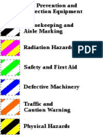OSHA Barricade Tapes Colours
