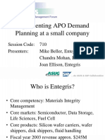 SAP APO Demand Planning at a Small Company