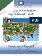 Estándares y Expectativas Español 2007
