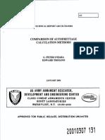 Comparison of Autofrettage