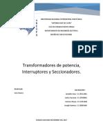 TRANSFORMADOR DE POTENCIA, INTERRUPTORES Y SECCIONADORES.docx