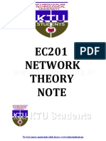 Network Theory EC201 Note