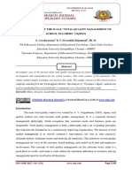 """DEVELOPMENT OF THE SCALE """"TOTAL QUALITY MANAGEMENT OF SCHOOL TEACHERS"""" [TQMST]"""