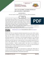 A STUDY OF IMPACT OF TEACHERS' ACADEMIC PROFILE ON ORGANISATIONAL ACHIEVEMENT
