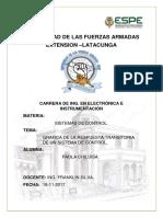 Grafica de La Respuesta Transitoria de Un Sistema de Control_matlab_chiluisa-paola