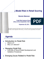 Glennon - Model Risk in Retail Scoring