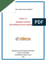 Modul 10. Kinerja Sistem Transportasi Dan Distribusi