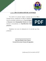 Carta de Culminacion de Actividades