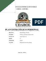 Plan Estrategico Personal - Jhon