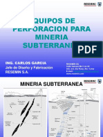 Equipos de Perforacion Para Mineria Subterranea