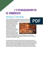 Religion y Evangalizacion en El Virreinato