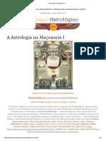 A Astrologia Na Maçonaria I
