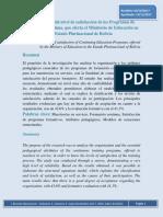 Nivel de Satisfacción en La Formación Del Profesorado (Bolivia)