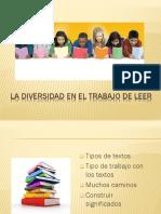 La Diversidad en El Trabajo de Leer