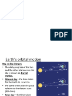 LN-Earth Orbital Motion-distance Measurements