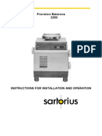 Manual Sartorius 2250