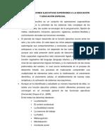 APORTES DE FUNCIONES EJECUTIVAS SUPERIORES A LA EDUCACIÓN Y EDUCACIÓN ESPECIAL
