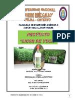 Proyecto Elaboración de Licor de Yuca