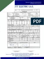 Protocolo de Pruebas Transformador 160 KV
