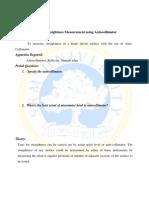 Straightness Measurement Using Autocollimator
