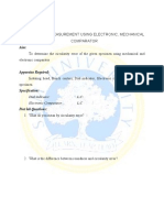Circularity Measurement Using Electronic , Mechanical Comparator