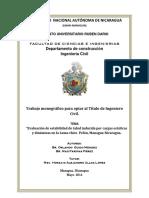 Evaluacion Estabilidad Del Talud Ante Cargas Estaticas y Dinamicas, Managua - UNAN
