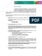 Especificaciones de documentación