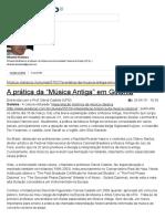 """A Prática Da """"Música Antiga"""" Em Goiânia - @Aredacao"""