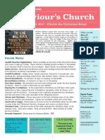 st saviours newsletter - 26 nov 2017