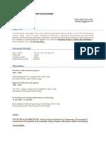 Sandiip Rathod Resume Cost Estimation Engineer Updated Shell