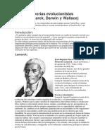 Teorías Evolucionistas Darwin y Lamarck