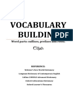 Vocabulary building - prefixes and suffixes