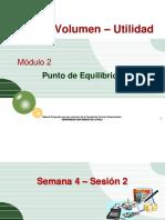 Semana 4 - Sesion 2 -Mod Costo Volumen Utilidad - Punto de Equilibrio