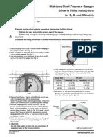 Stainless Steel Pressure Gauges Glycerin Filling Instructions