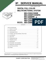 Sharp Mx-c300w Service Manual