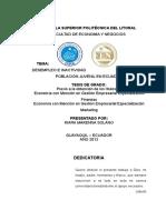 Desempleo e Inactividad de La Población Juvenil en Ecuador