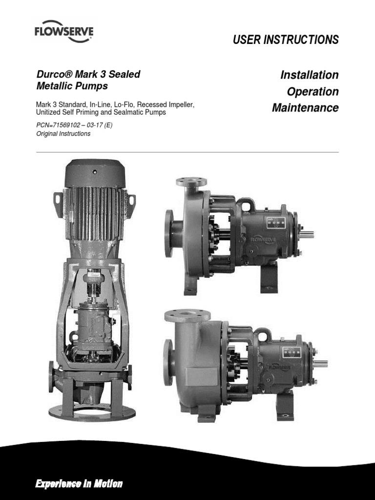 durco pump maintenance manual