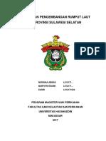 Kebijakan Pengembangan Rumput Laut Di Provinsi Sulawesi Selatan