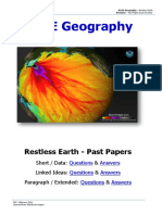 Past Papers - Restless Earth