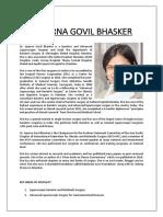 Dr. Aparna G. Bhasker - CV