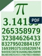 poster Pi 350 000 dígitos