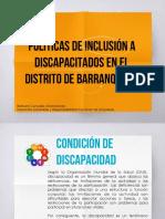 Políticas inclusión